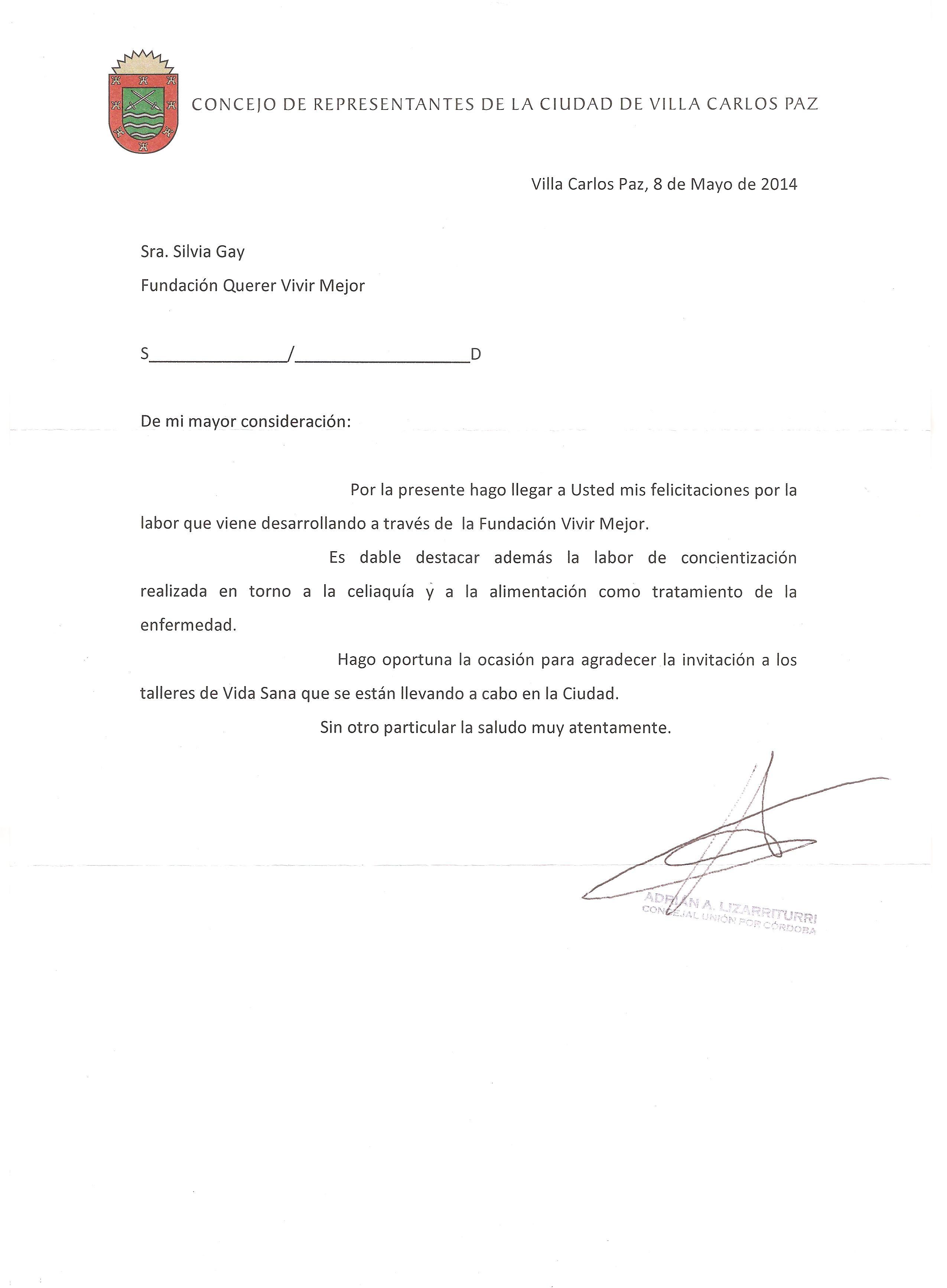 Carta felicitacion a Qevime 001